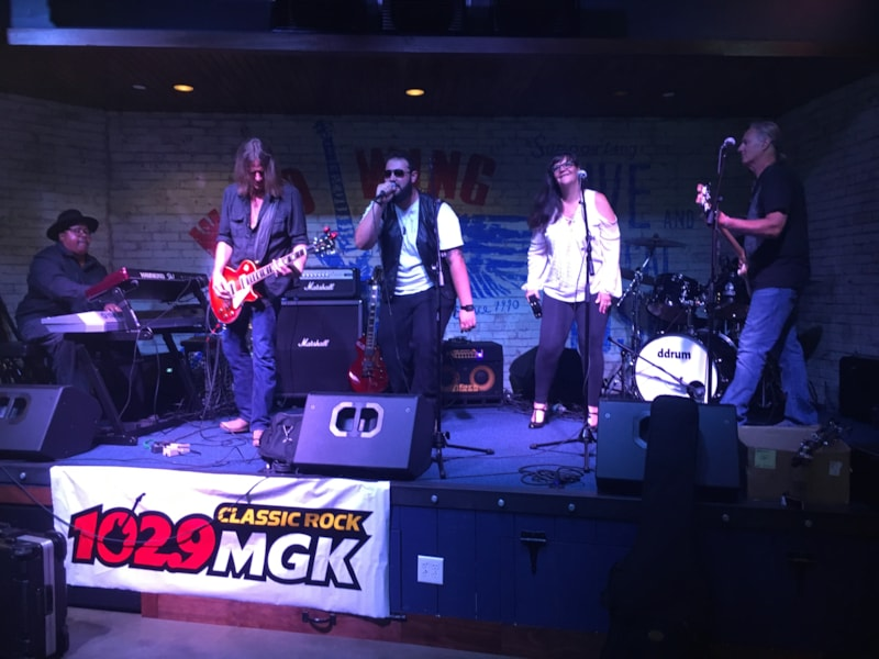 Debbi Calton hosted the festivities for our MGK HouseBand Semi-Final event at Wild Wing Cafe. 4 of the area's best Classic Rock Cover Bands - Knock One Back , The Deck Band, Bar None Band and Hot Dog Cannon - played their hearts out to a packed house for the chance to become MGK's next…