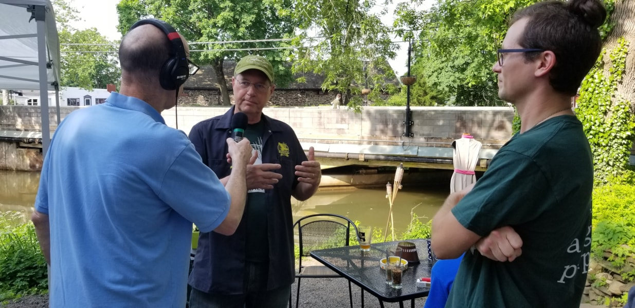 WMGK listeners joined Andre Gardner as he broadcast live from Great Barn Brewery in New Hope, PA. Attendees enjoyed $9 flights and tasted the new Hazy Acres IPA that debuted during the broadcast.