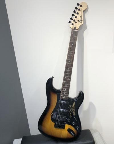 Tom Scholz Autographed Guitar