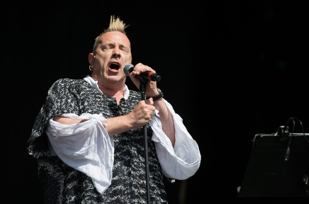 GLASTONBURY, ENGLAND - JUNE 30: John Lydon of Public Image Ltd performs on the Other Stage during day 4 of the 2013 Glastonbury Festival at Worthy Farm on June 29, 2013 in Glastonbury, England. (Photo by Ian Gavan/Getty Images)