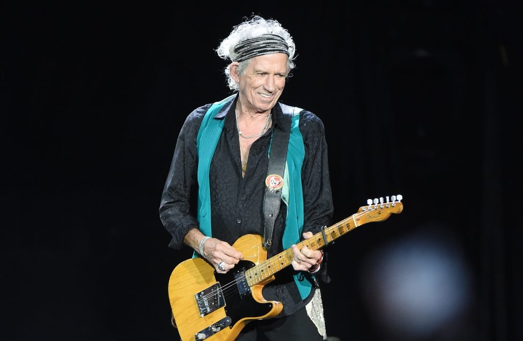 PITTSBURGH, PA - JUNE 20:  Musician Kieth Richards of The Rolling Stones performs at Heinz Field on June 20, 2015 in Pittsburgh, Pennsylvania.  (Photo by Jason Merritt/Getty Images,)